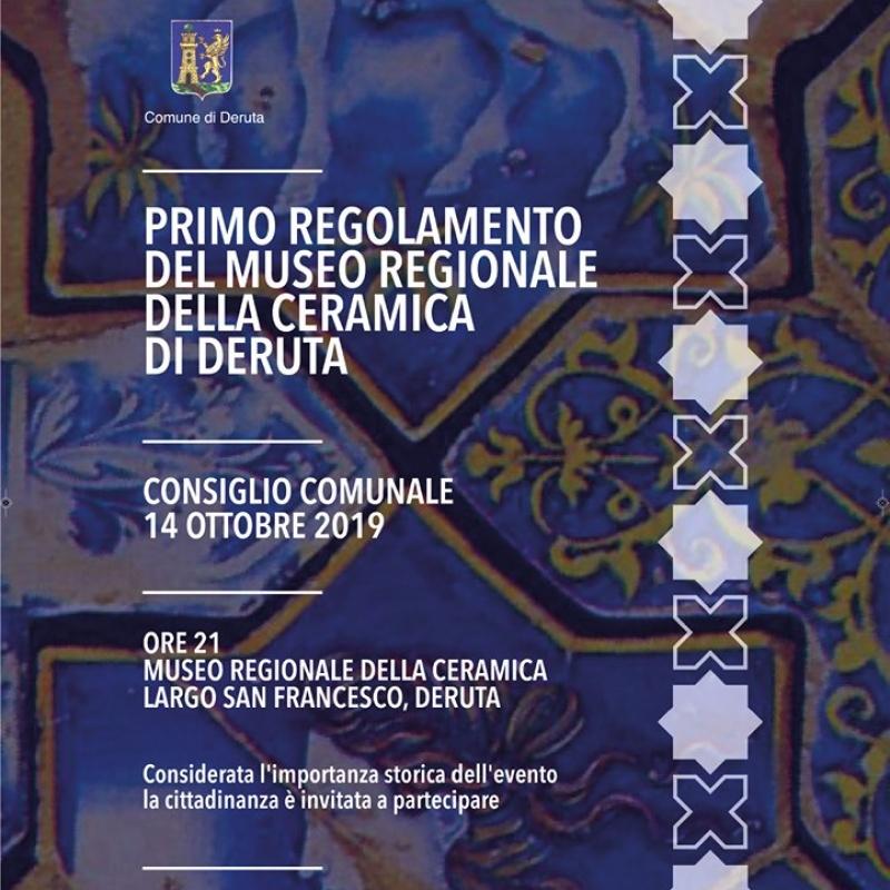 PRIMO REGOLAMENTO DEL MUSEO REGIONALE DELLA CERAMICA DI DERUTA
