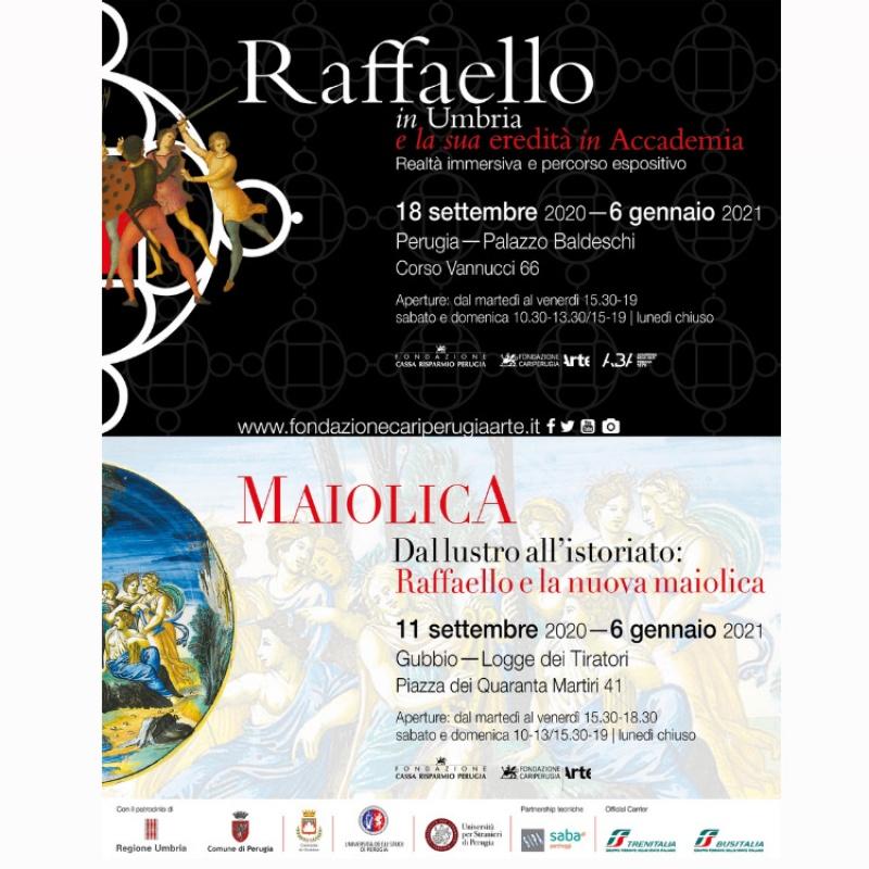 """""""Dal lustro all'istoriato: Raffaello e la nuova maiolica"""" - """"Raffaello in Umbria e la sua eredità in Accademia"""""""
